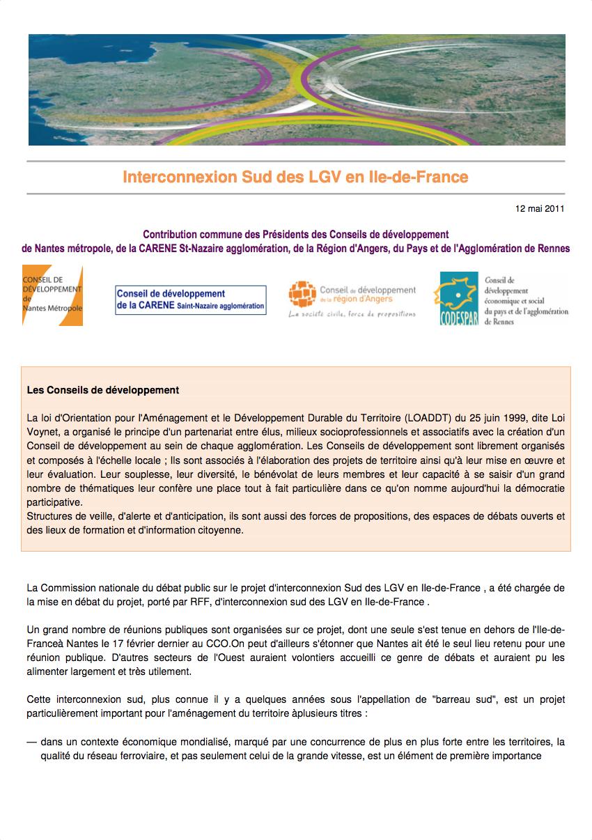 Interconnexion Sud des LGV en Ile-de-France