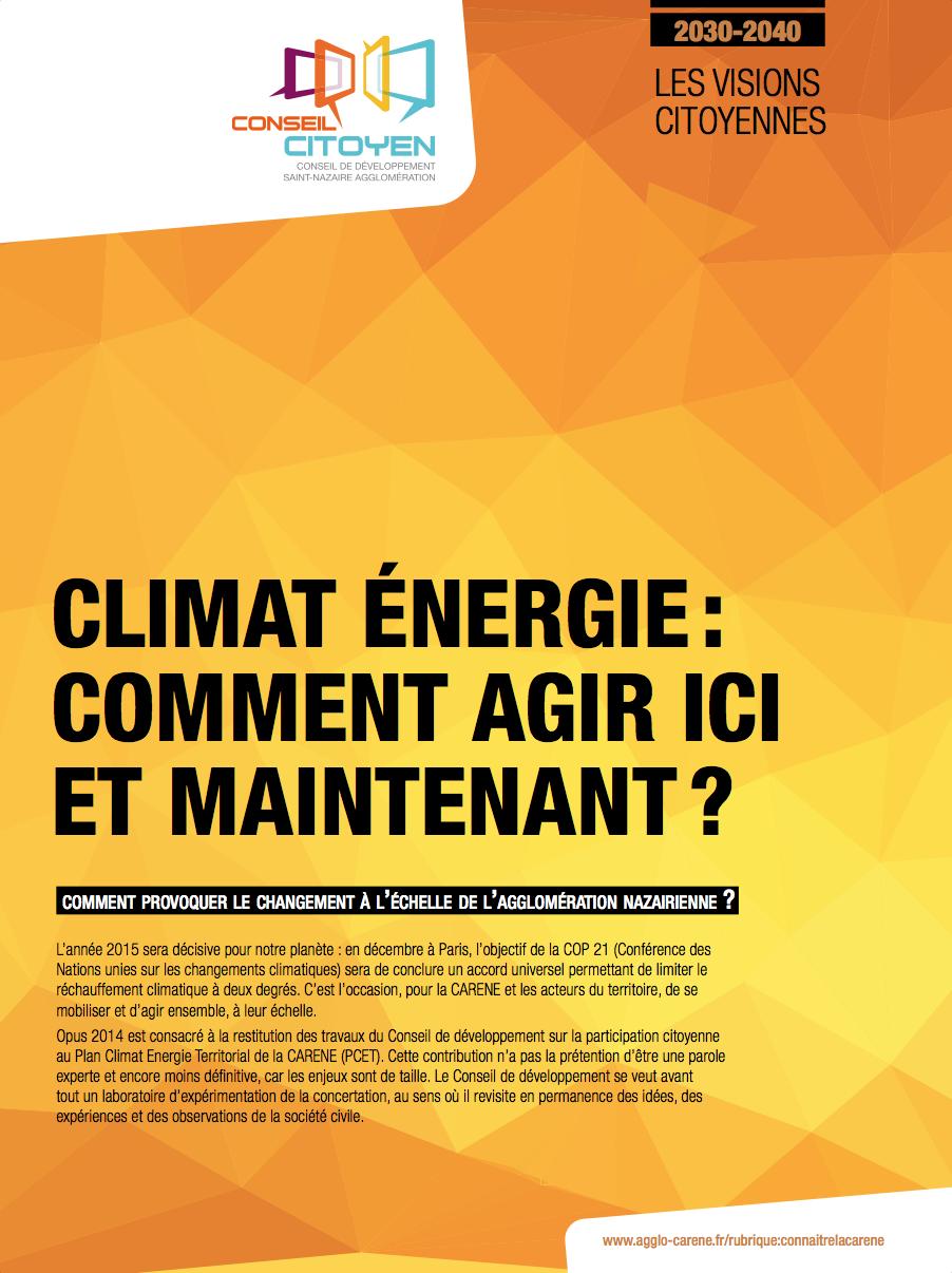 Climat Énergie : Comment agir ici et maintenant ?